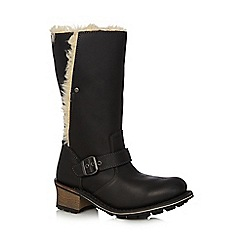 Caterpillar - Black 'Anna' leather boots