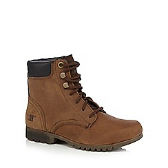 Caterpillar - Tan lace-up 'Rhonda' boots