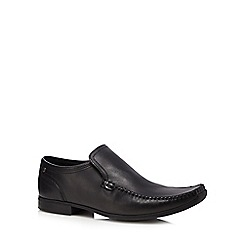 Base London - Black leather slip on formal shoes