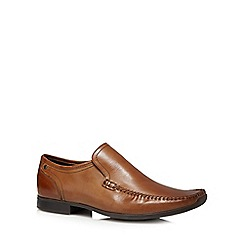 Base London - Tan 'Acrobat' slip on shoes
