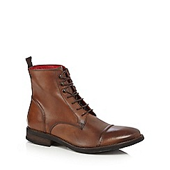 Base London - Tan leather lace up boots