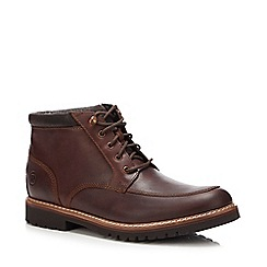 Base London - Brown leather fleeced lined boots
