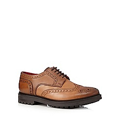 Base London - Tan leather cleated brogues