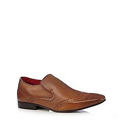 Base London - Tan leather 'Pocket' brogue slip on shoes