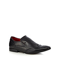 Base London - Black leather slip on brogues