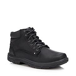 Base London - Black leather patent chukka boots