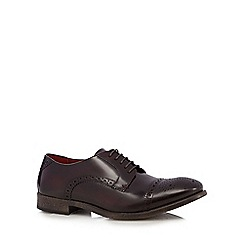 Base London - Plum leather 'Campbell' high shine brogues