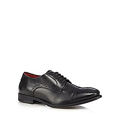 Base London - Dark grey leather 'Campbell' high shine brogues