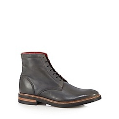 Base London - Dark grey leather ankle boots