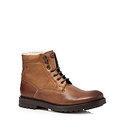 Base London - Brown leather lace up boots