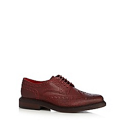 Base London - Dark red leather grained brogues
