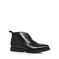 Base London - Black leather patent chukka boots