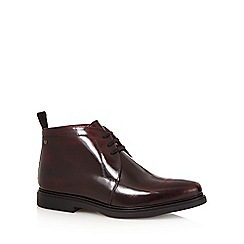 Base London - Dark red leather patent chukka boots