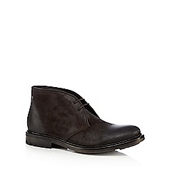 Base London - Brown distressed-effect suede chukka boots