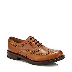 Base London - Tan leather lace up ankle boots