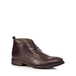 Base London - Brown leather chukka boots