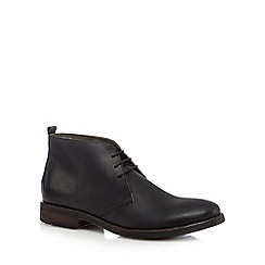 Base London - Black leather 'Greenwich' Chukka boots