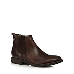 Base London - Brown leather Chelsea boots