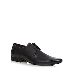 H By Hudson - Black leather perforated lace up shoes