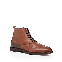 H By Hudson - Tan 'Harland' leather brogue boots