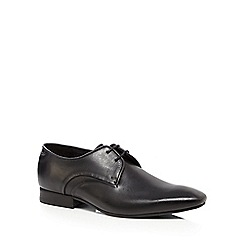 H By Hudson - Black leather 'Dawlish' Derby shoes
