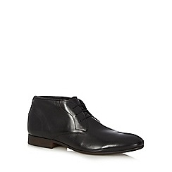 H By Hudson - Black leather Chukka boots