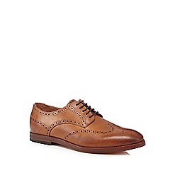 H By Hudson - Tan 'Talbot' leather brogues
