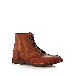 H By Hudson - Tan leather ankle boots
