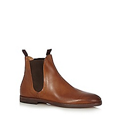 H By Hudson - Tan leather Chelsea boots
