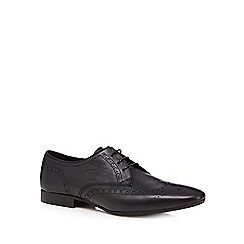 H By Hudson - Black 'Eddie' leather brogues