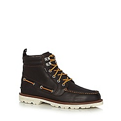 Sperry - Brown leather lace up boots