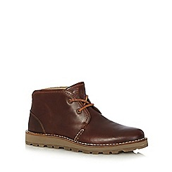 Sperry - Tan leather lace up boots