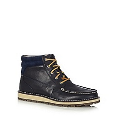 Sperry - Navy leather lace up boots