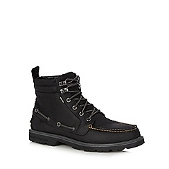 Sperry - Black leather lace up boots
