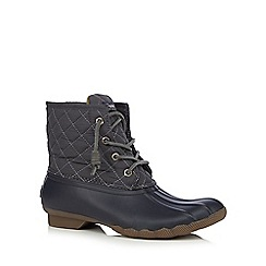 Sperry - Grey leather quilted boots