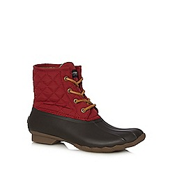 Sperry - Red leather quilted boots
