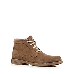 Caterpillar - Big and tall beige suede chukka boots