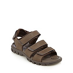 Caterpillar - Black three strap leather sandals
