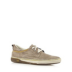 Caterpillar - Light grey suede lace-up shoes