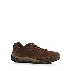 Caterpillar - Brown suede casual lace-up shoes