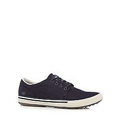 Caterpillar - Navy canvas casual trainers