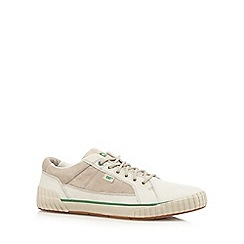 Caterpillar - Beige suede casual lace-up trainers