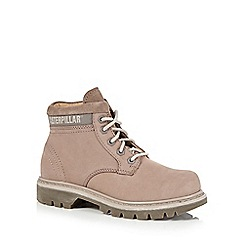 Caterpillar - Light grey 'Ridge' suede lace up boots