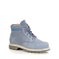 Caterpillar - Light blue 'Ridge Work' boots