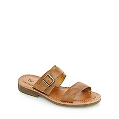 Caterpillar - Tan 'Lakyn' mule sandals