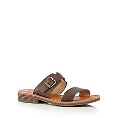 Caterpillar - Brown 'Lakyn' mule sandals