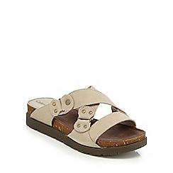 Caterpillar - Beige 'Joni' mule sandals
