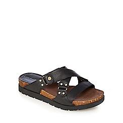 Caterpillar - Black 'Joni' open toe mules