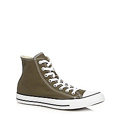 Converse - Khaki 'All Star' hi-top trainers