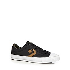 Converse - Black 'Star Player' leather trainers